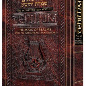 The Schottenstein Edition Interlinear Tehillim / Psalms- Pocket Size (Hard  Cover)